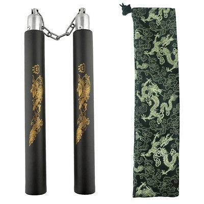 Bruce Lee Martial Arts Foam Nunchucks Nunchakus Dragon Pattern Training Practice