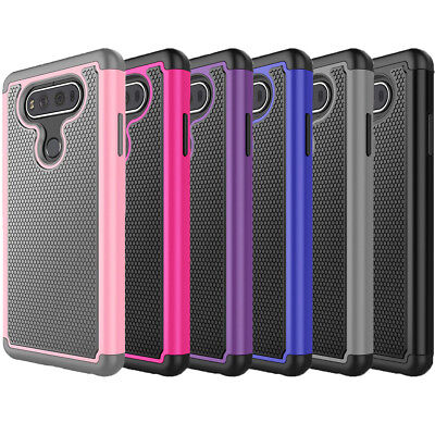 For LG V20 Shockproof Dual Layer Hybrid Impact Armor Rugged Rubber Case Cover