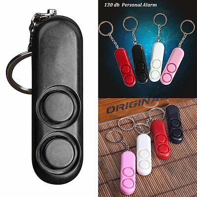 Personal Anti-attack Safety Security Panic Loud Alarm Emergency Siren Keychain w