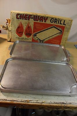 2 Chef Way Griddle Wisconsin Aluminum VINTAGE