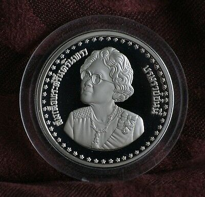 1984 Thailand 10 Baht Proof World Coin Kings Mother 84th Birthday Thai Rama IX