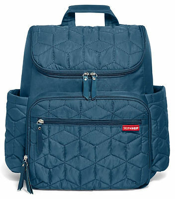 Skip Hop Forma Baby Diaper Bag Backpack w/ Changing Pad Peacock NEW