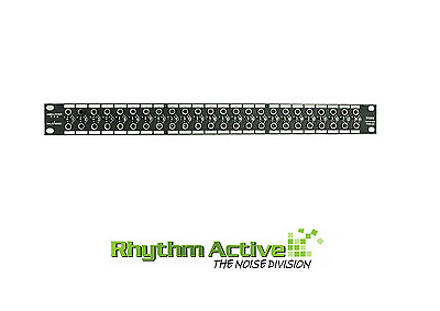 "Hosa Phb265 48-Point 1/4"" 6.35Mm Jack Patch Bay Rack For Studio/stage/live/pa"