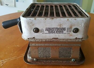 Vintage / Antique Armstrong Toaster Table Stove unique 1920s