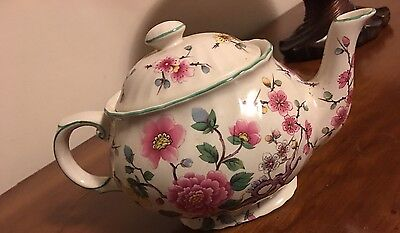 "James Kent  Old Foley  ""chinese Rose"" Staffordshire  Teapot"