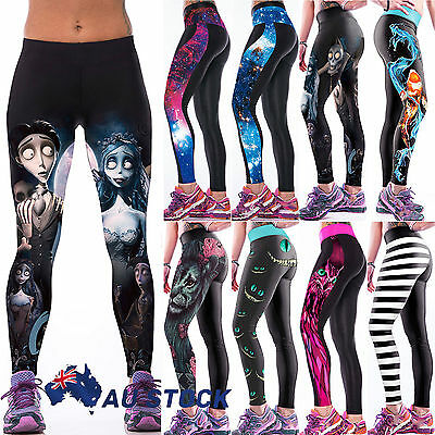 Women Yoga Gym Stretch Trousers Leggings Fitness Jogging Running Workout Pants