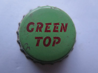 CROWN SEAL BOTTLE CAP TOP GREEN TOP USED & NO IDEA of COUNTRY