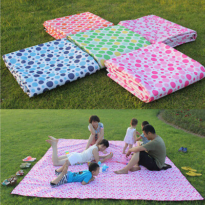 2X1.5m Extra Large Picnic Blanket Cashmere Rug Waterproof Outdoor Camping Mat