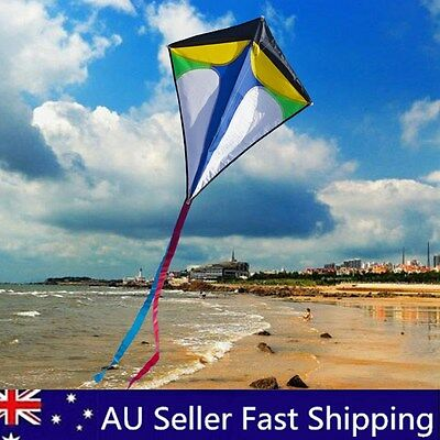 78CM Diamond Delta Flying Kite Tail Outdoor Sports Toys Kid Fun Game Activity