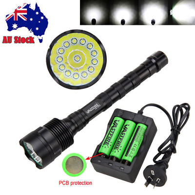 Tactical 28000lm 11xXML T6 LED Rechargeable Flashlight Torch18650 Hunting Light