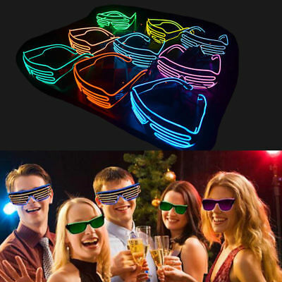 Jennis El Wire Neon LED Light Up Shutter Party Glasses with Controller For Club