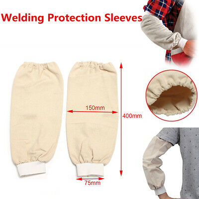 1 pair 40cm Cotton Welding Arm Protection Sleeves Flame Resistant Fabric Sleeves