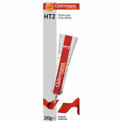 30g Gutermann Sewing HT2 Textile Fabric Glue Solvent-Free Wash & Dry Clean Craft