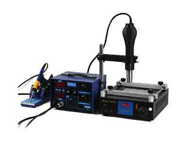 2in 1 Soldering Rework Station  Hot Air & Iron + Preheat station for BGA IC 220v
