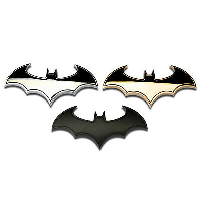 Cool 3D Metal bat auto logo car sticker metal batman badge emblem tail decal