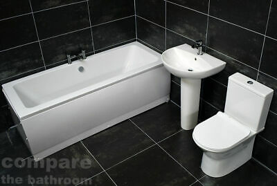 Molly Double Ended Bath Suite Complete Bathroom Suite Modern Style + Taps