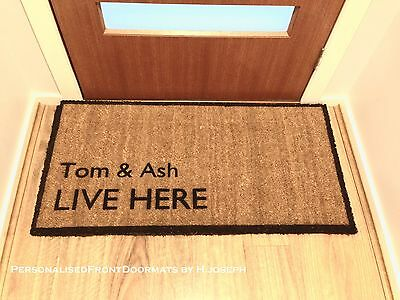 Wedding Anniversary Housewarming Christmas Gift Personalised  Front Doormat