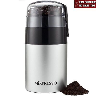 Electric Herb Coffee Grinder Stainless Steel Blades Spices Nuts Black New