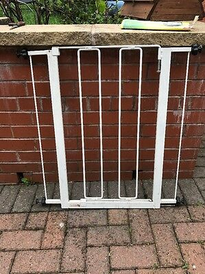 White Stair gate Used Collection From Worksop Child Stairgate Or Puppy Gate