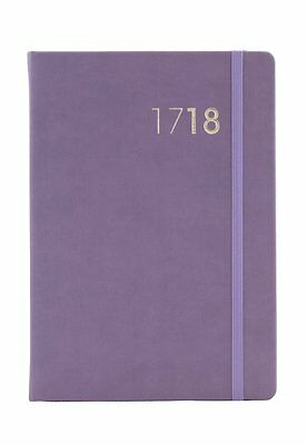 Collins A6  17-18 Week to View Soft Touch Student Diary - Purple