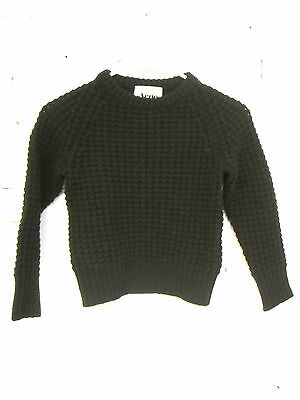 Acne Miniature Kids Sweater Mini Strindberg Chunky Knit Black size 6