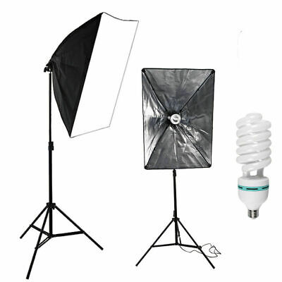 675W Photography Studio Softbox Continuous Lighting Soft Box Light Stand Kit Set