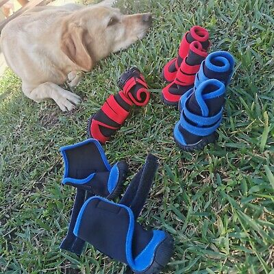 4 PCS Waterproof non-slip dog/cat shoes/booties perfect for injury prevention