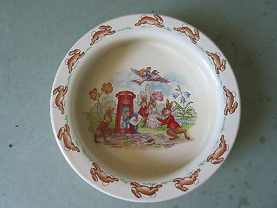 Old Vintage Royal Doulton Bunnykins Cereal Bowl Postmen by Barbara Vernon