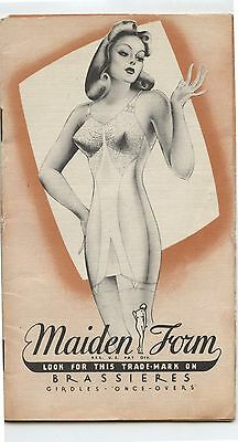 Old 1940's Maiden Form Brassieres Advertising Brochure