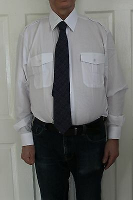 portwest S102 long sleeve pilot shirt with epaulets coach driver security +++