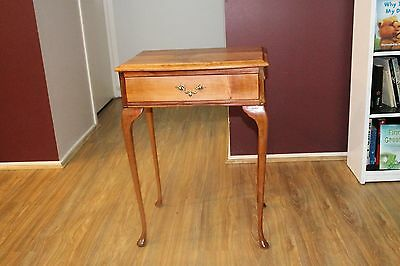 antique queen anne style hall table, side table, small desk