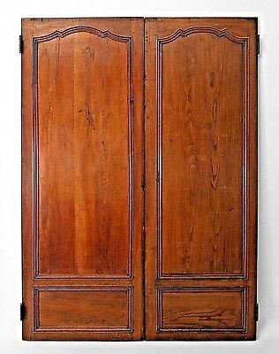Pair of French Provincial (18th Cent) Similarly Sized Walnut Door Panels