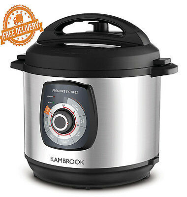 Electric Pressure Cooker Stainless Steel Kambrook 6L Express Kitchen Cookware