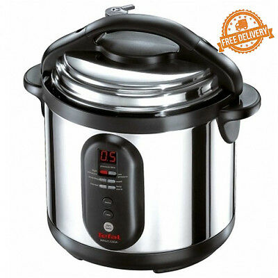 Electric Pressure Cooker Stainless Tefal Minut 6L Multiple Kitchen New Cookware