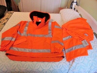 Jackson Safety Jacket-Mens-Reflective-Lined-Work-Coat & Pants NEW-Class 3 Sz LG