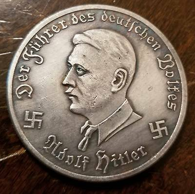 Adolf Hitler 1943 Third Reich Luftwaffe plane  coin Exonumia WW2 WWII German
