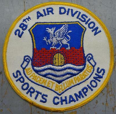 Older U.s. Air Force 28Th Air Division Sports Champions Jacket Patch - #usp2186