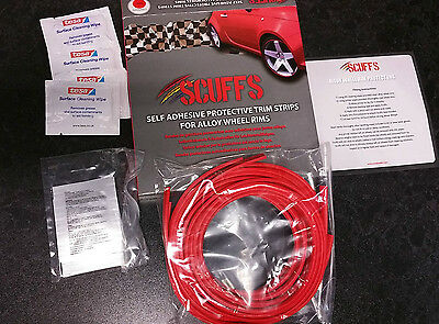 RED SCUFFS by Rimblades Car Tuning Alloy Wheel Rim Protectors Tyre Guard Line