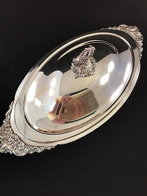 Wallace Silver Baroque Footed Buffet Server #711 Casserole Bowl Tray w/Liner