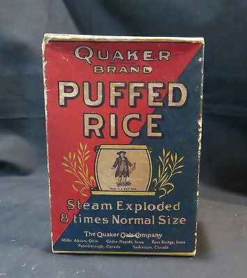 Vintage Quaker Brand Puffed Rice 1/2oz Box, Empty