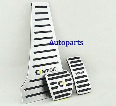 No drill sports Fuel Brake Foot Rest pedal Cover Pad Plate For Smart 453 2015+