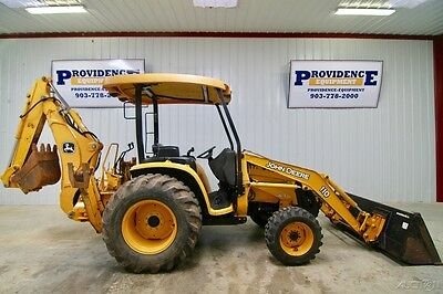 John Deere 110 4X4 Backhoe Loader, Quick Attach, Rear Auxillary Hydraulic!
