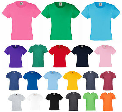 Mädchen T-Shirt Fruit of the Loom Valueweight T Girls
