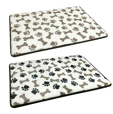 Large Microplush Memory Foam Warm Soft Puppy Pets Dog Cat Pet Bed Mat 50x80cm