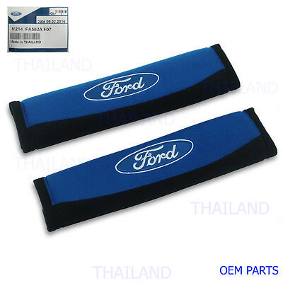 Seat Belt Shoulder Pads Blue Black Genuine For All Ford Ranger Fiesta Everest