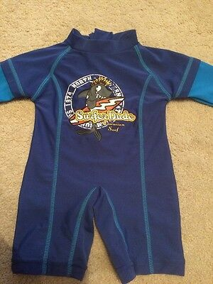 Baby Boy All In One Swim Suit Age 3-6 Months