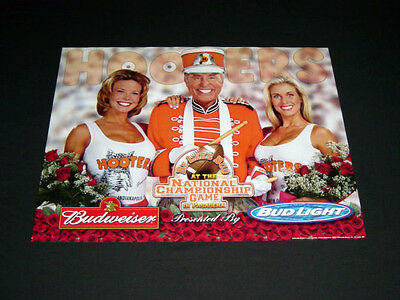 Hooters Uniform Rose Bowl College Lee Corso Football Budweiser beer band Poster