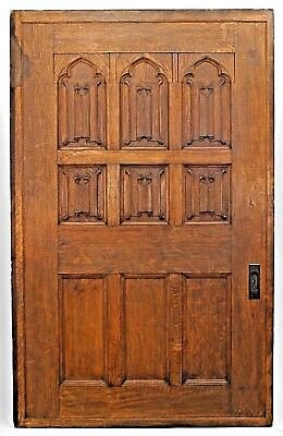 Pair of English Victorian (Gothic Revival style) Pocket Door Panels
