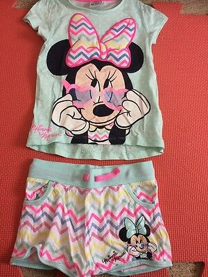 Baby Girls 18/24 Months Minnie Mouse Shorts & T/shirt Set