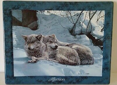 """Bradford Exchange """"Affection"""" Wolves ~ 2nd issue Lifemates by Terry Issac"""